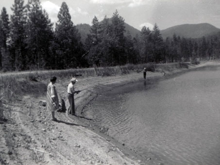 Fishing at the Lower Pond - August 1962